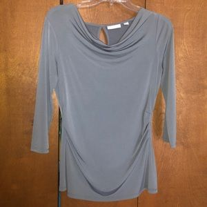 New York and company gray blouse